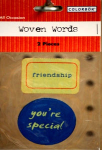 Colorbok All Occasion Woven Words Stickers - SCRAPBOOKFARE