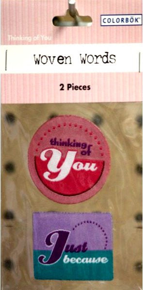 Colorbok Thinking Of You Woven Words Stickers - SCRAPBOOKFARE