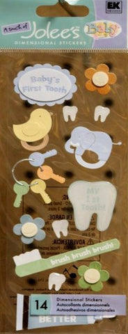 A Touch Of Jolee's Baby's First Tooth Dimensional Stickers - SCRAPBOOKFARE