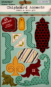 Colorbok Chipboard Punchout Jewels Accents Embellishments - SCRAPBOOKFARE