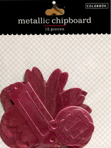 Colorbok Pink Metallic Chipboard Accents Embellishments - SCRAPBOOKFARE