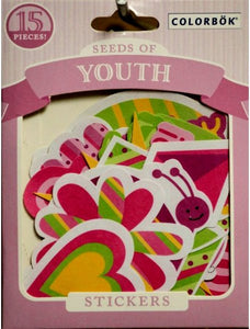 Colorbok Seeds Of Youth Die-Cut Stickers - SCRAPBOOKFARE