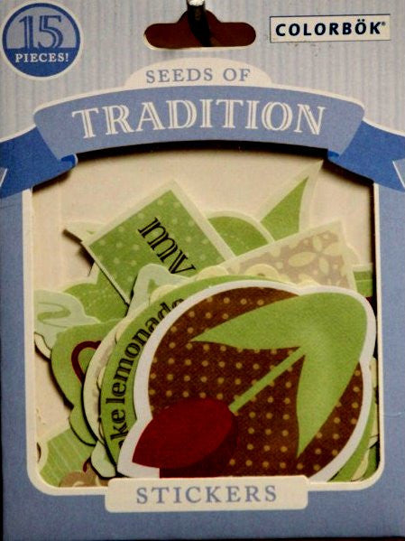 Colorbok Seeds Of Tradition Die-Cut Stickers - SCRAPBOOKFARE
