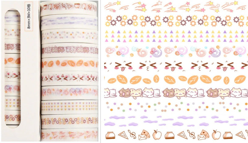 Color Series 10 Pack Washi Tape#2