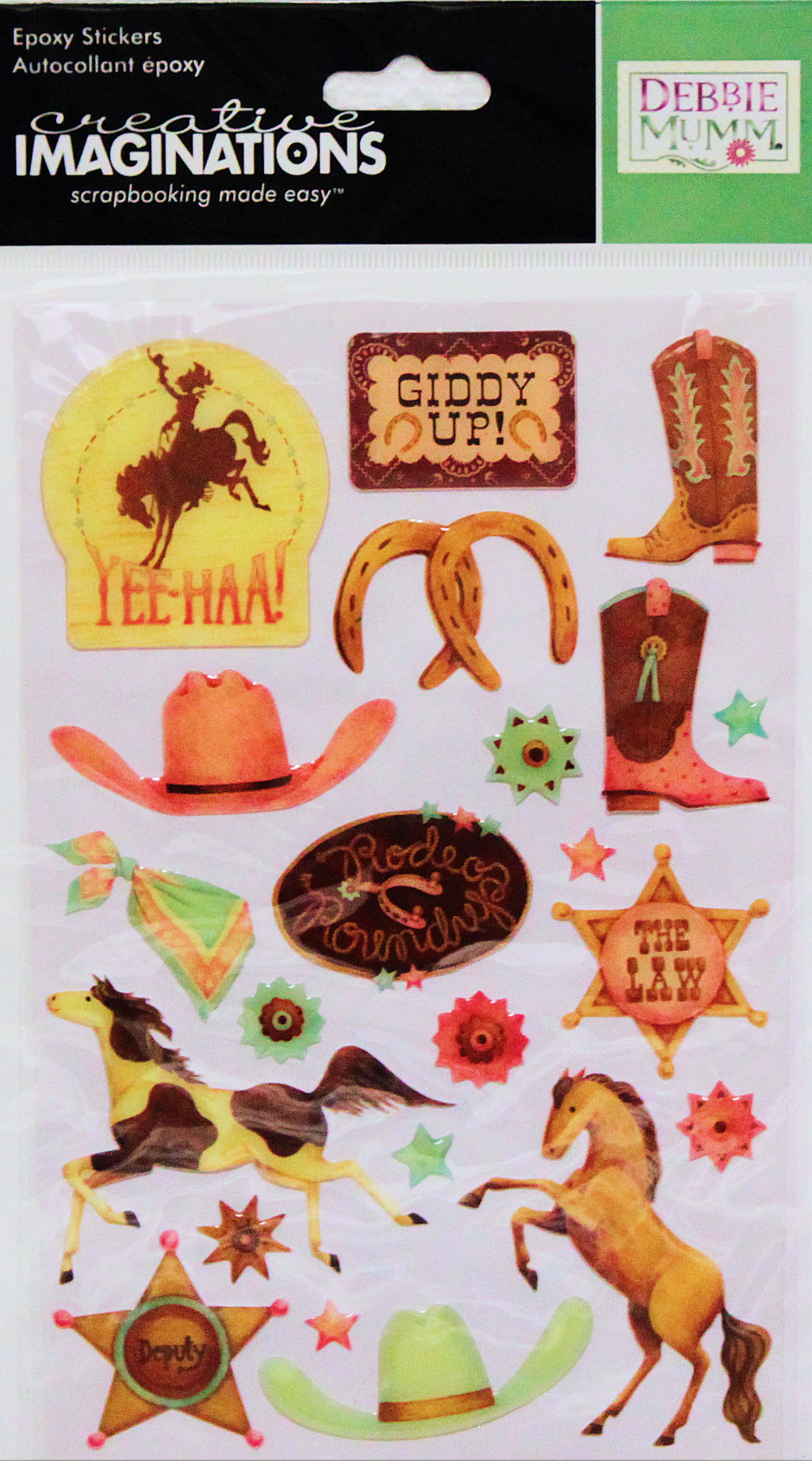 Creative Imaginations Debbie Mumm Wild West Dimensional Epoxy Stickers