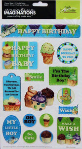 Creative Imaginations Birthday Celebration Dimensional Epoxy Stickers