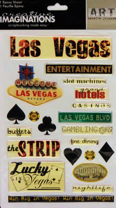 Creative Imaginations Las Vegas Dimensional Epoxy Stickers