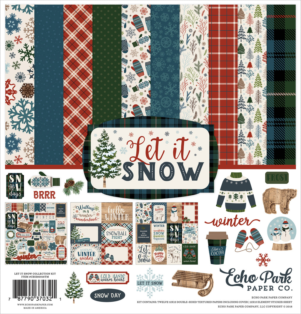 Echo Park Let It Snow Scrapbook Collection Kit