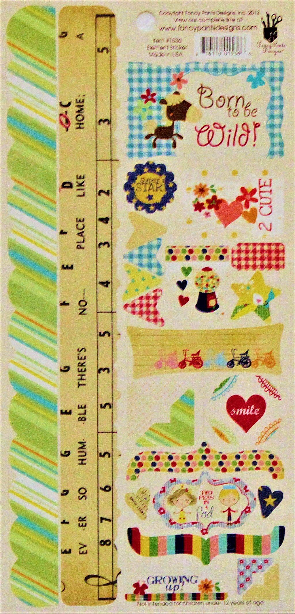 Fancy Pants Designs Growing Up Large Cardstock Sticker Sheet