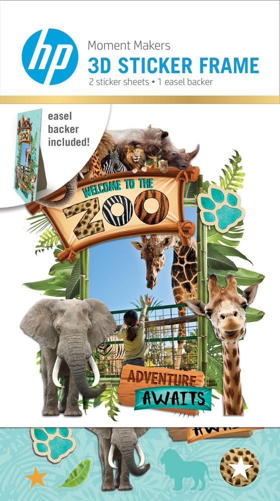 HP Moment Makers 3D Zoo Sticker Frame/Easel Kit