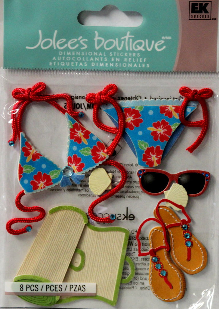 Jolee's Boutique Beach Fashion Dimensional Stickers - SCRAPBOOKFARE
