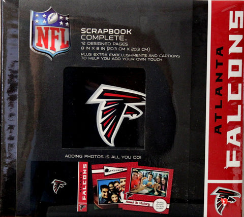 Atlanta Falcons 8 x 8 Complete Scrapbook Album