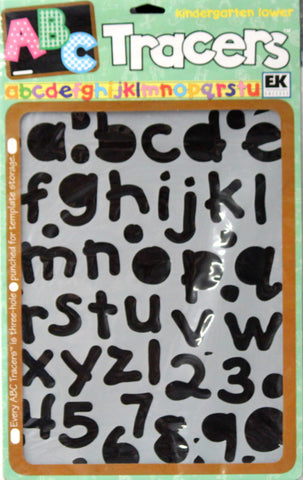EK Success Kindergarten Lower Tracers Letters & Numbers Stencil Template