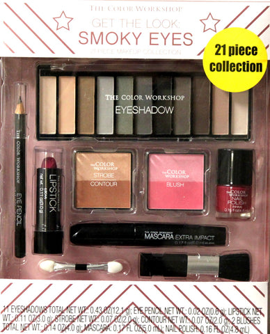 The Color Workshop Smoky Eyes 21 Piece Collection Gift Set