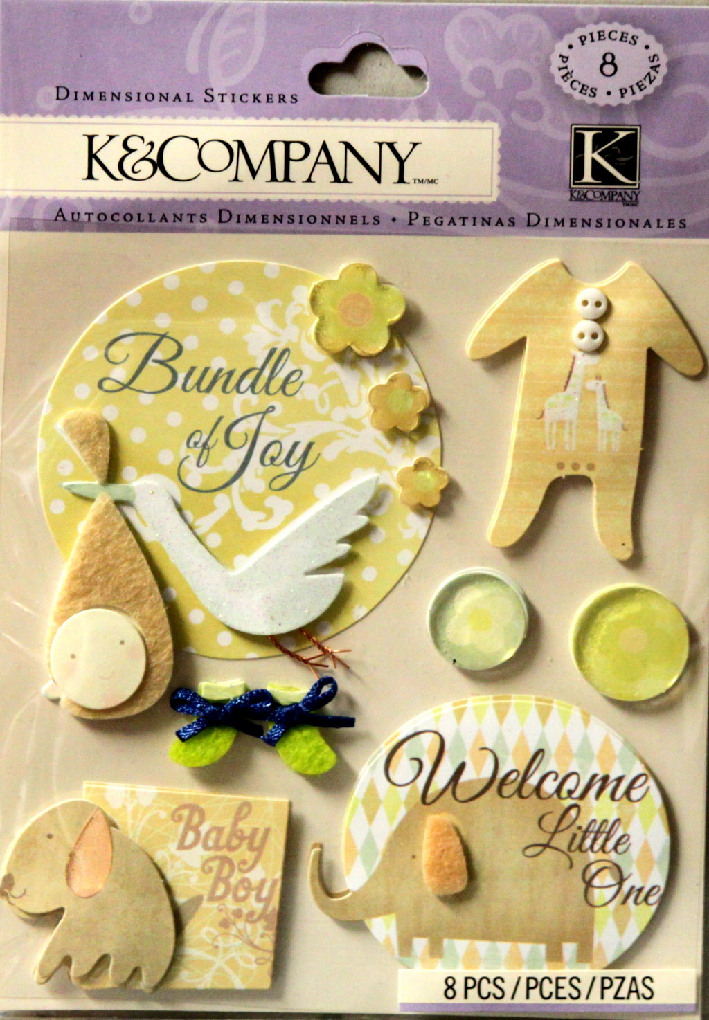 K & Company Baby Boy Dimensional Stickers
