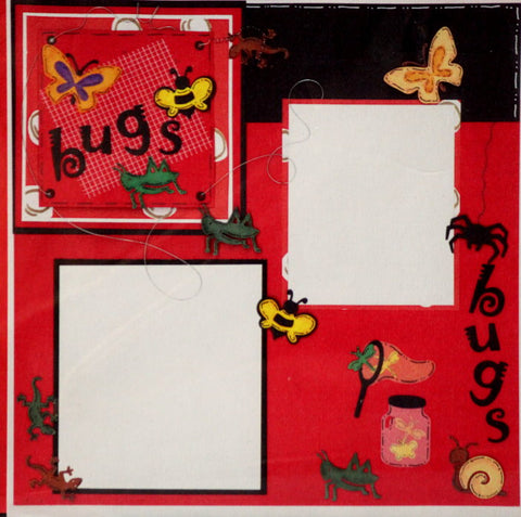 Bugs 12 x 12 Scrapbook Pages Kit