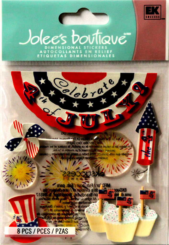 Jolee's Boutique Fourth Of July Dimensional Scrapbook Stickers