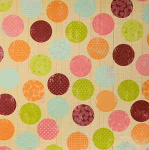 Distressed Large Dots Printed 12 x 12 Scrapbook Paper