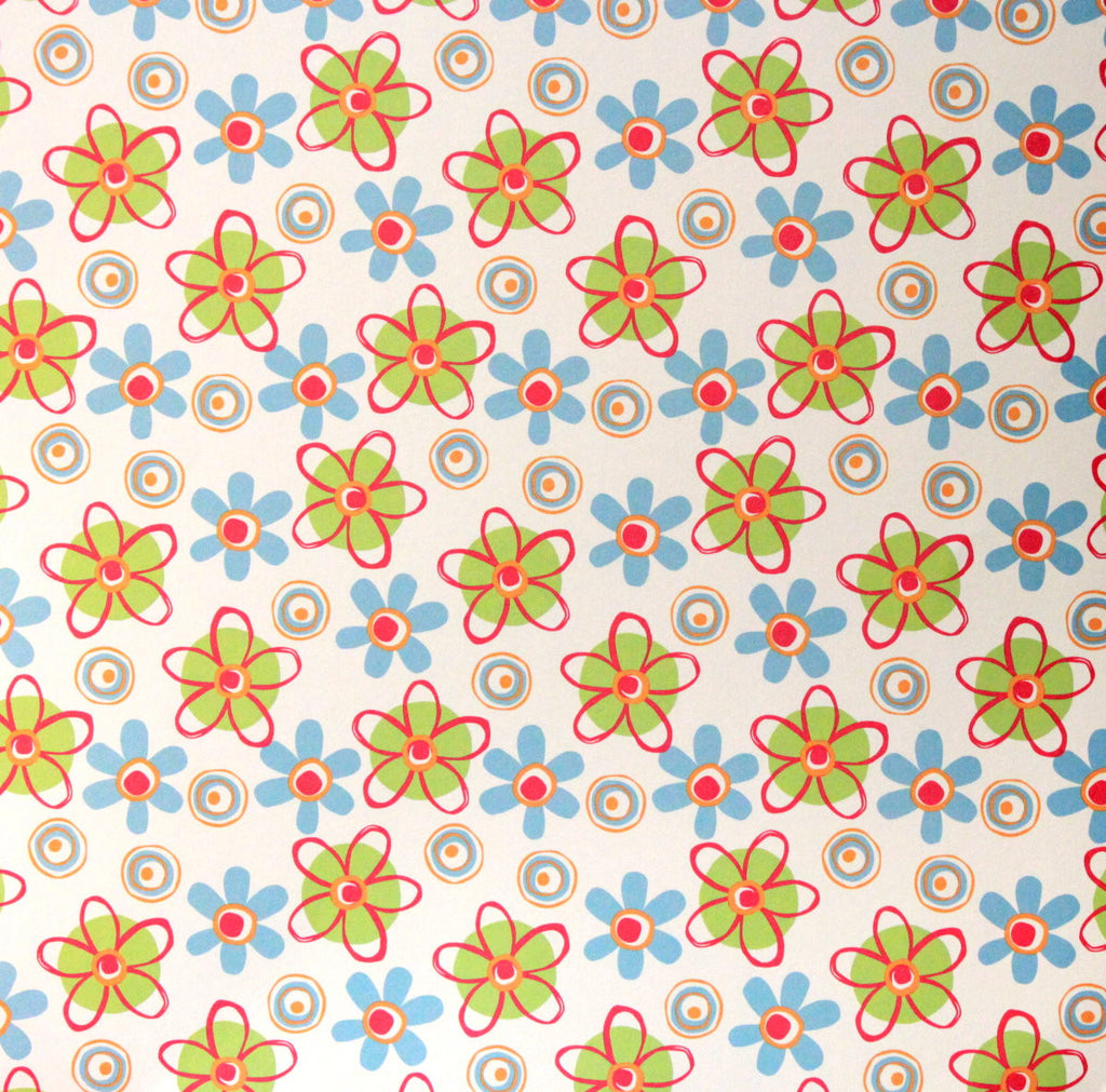 Shades Of Summer Flowers Coordinates Printed 12 X 12 Scrapbook Paper