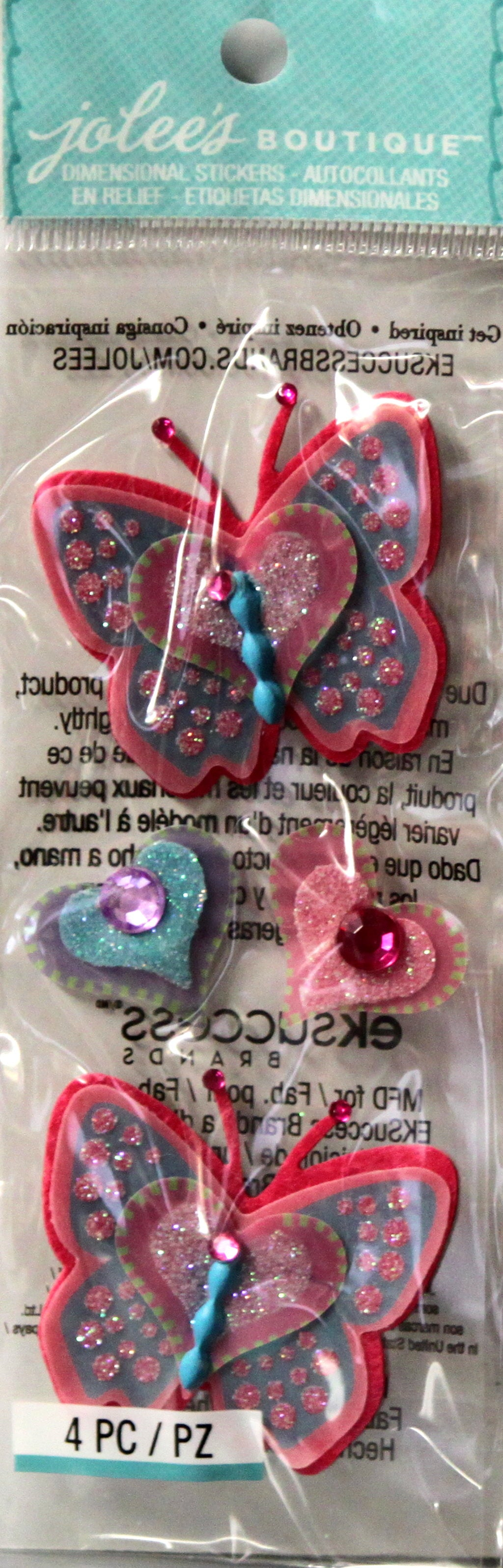 Jolee's Boutique Butterflies Dimensional Stickers Embellishments