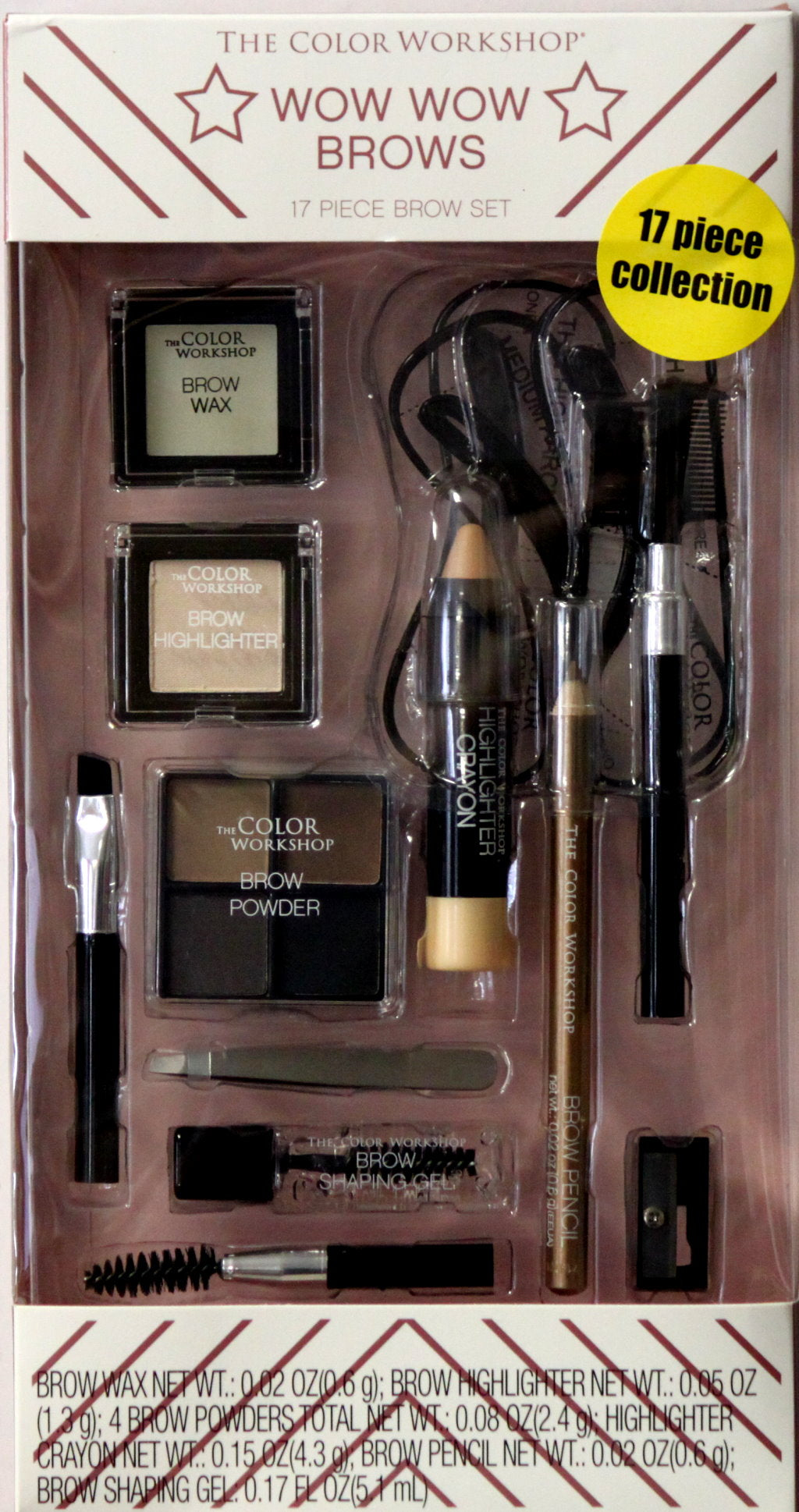 The Color Workshop Wow Wow Brows 17 Piece Collection Gift Set