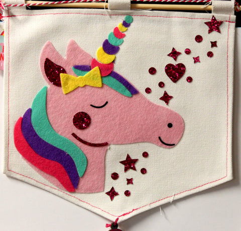 Magical Unicorn Banner Decorative Wall Hanging