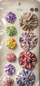 Sew Little Time Fabric Floral Yo Yos Embellishments