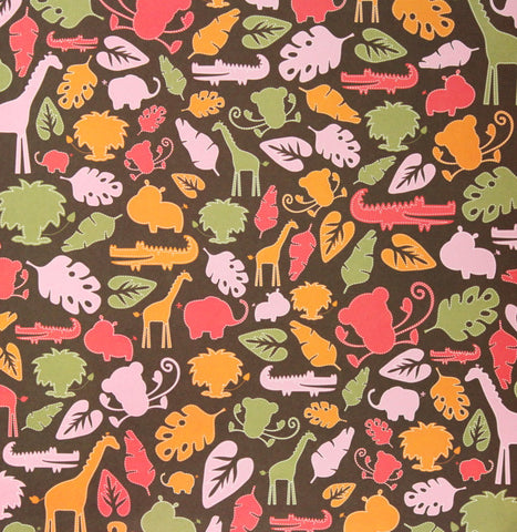 Zoo Friends Printed 12 x 12 Cardstock Scrapbook Paper