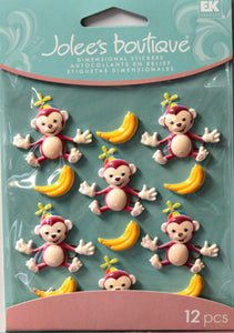 Jolee's Boutique Monkey Cabochons Dimensional Stickers