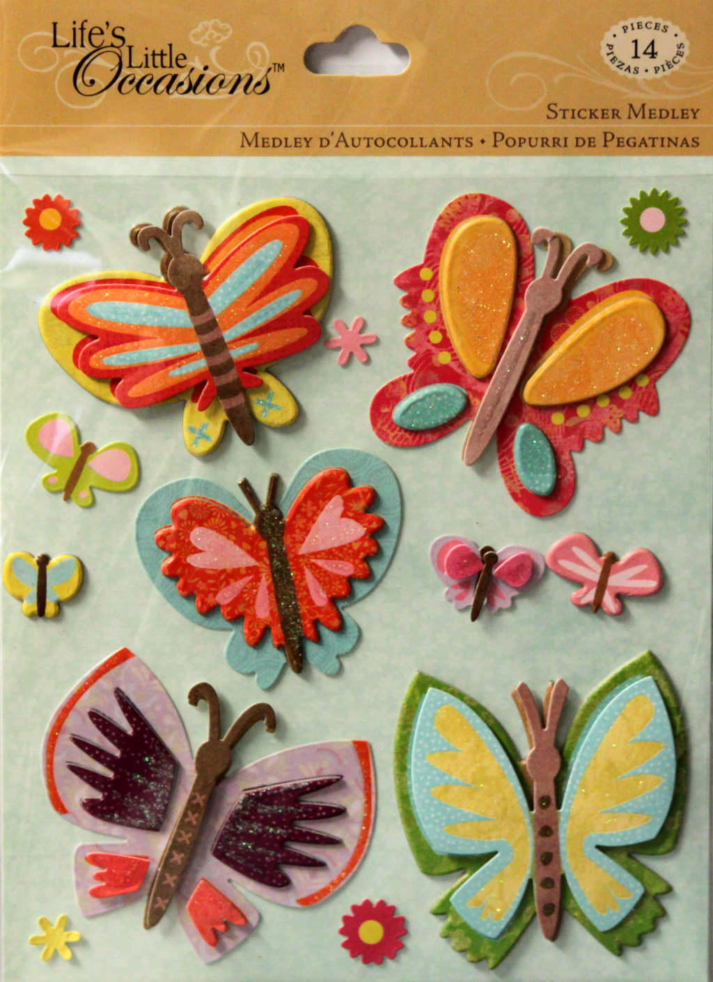 K & Company Life's Little Occasions Butterflies Sticker Medley