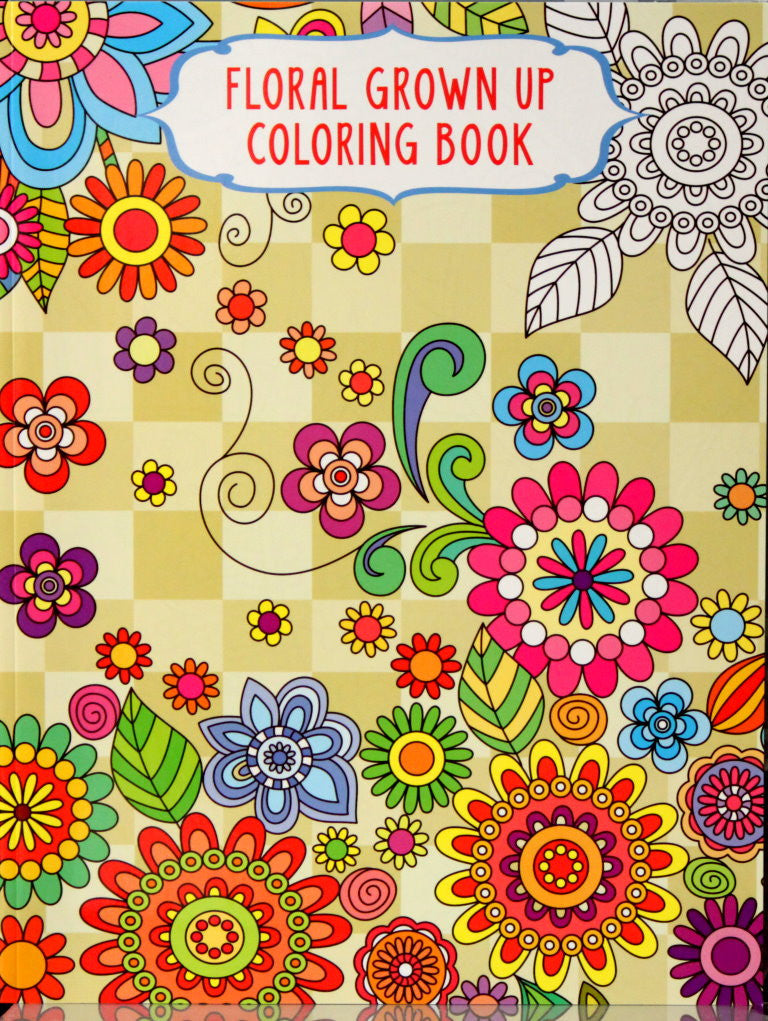 Vision Street Publishing Floral Grown Up Coloring Book 2