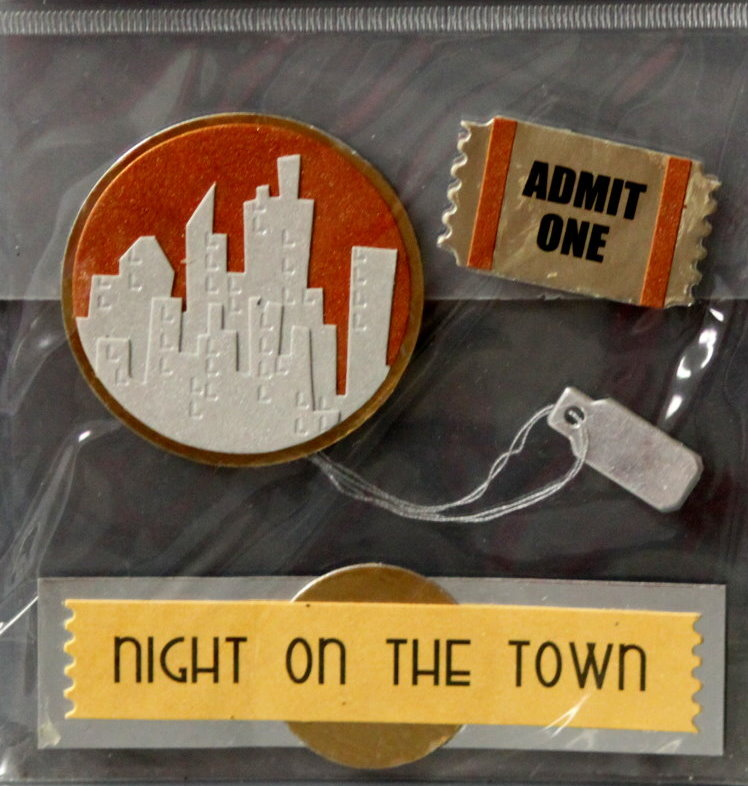 JoAnn Craft Essentials Night On The Town Card Embellishments Dimensional Stickers