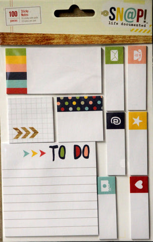 Simple Stories Snap! Life Documented Sticky Notes Embellishments