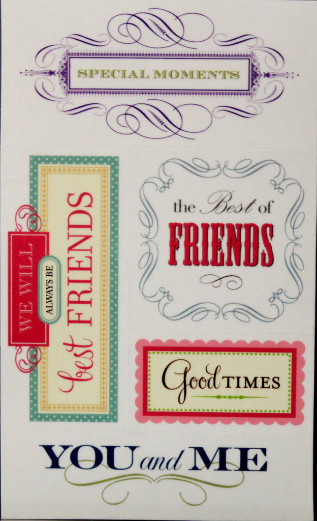 Anna Griffin Vellum Sentiment Scrapbook Stickers - SCRAPBOOKFARE