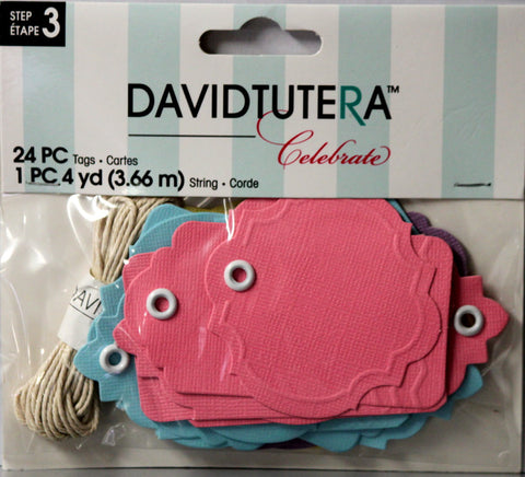 David Tutera Celebrate Tags Embellishments - SCRAPBOOKFARE