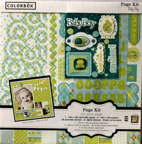 Colorbok 12 x 12 Baby Boy Scrapbook Page Kit