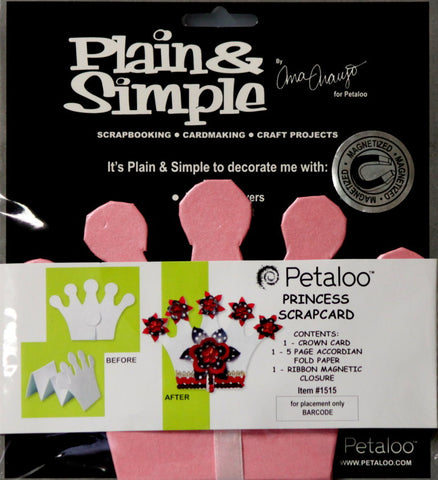 Petaloo Princess Chipboard Scrapcard