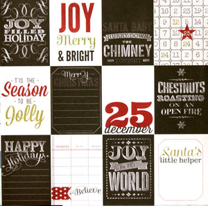 American Crafts The Color of Memories Paper Christmas Sentiments Die-cuts