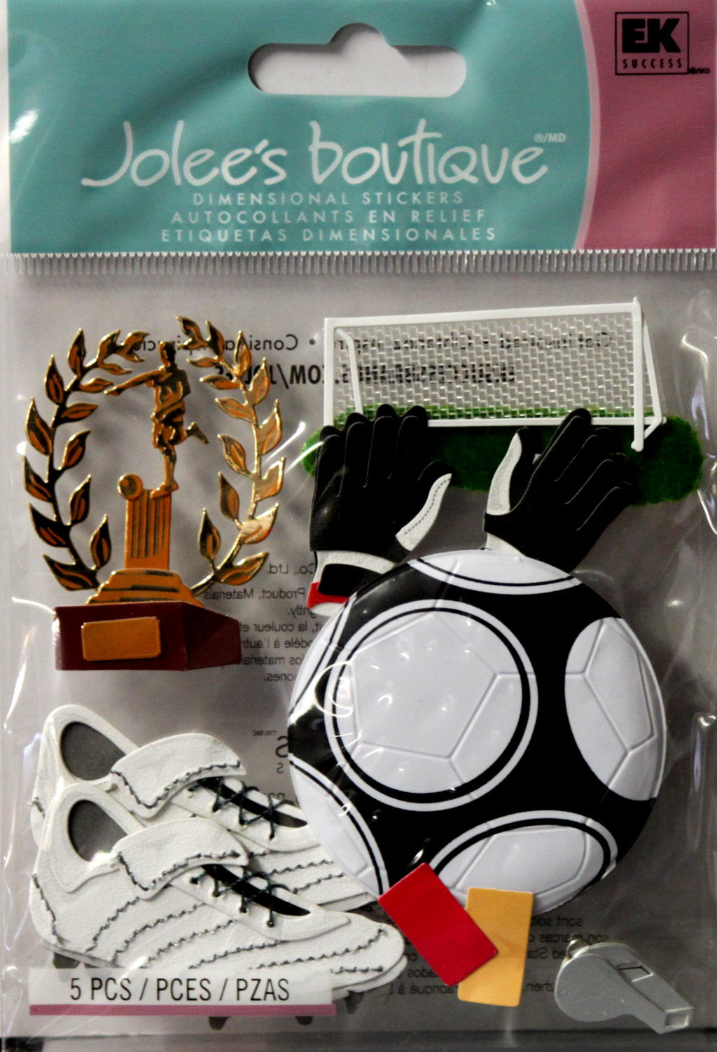 Jolee's Boutique Playing Soccer Dimensional Stickers