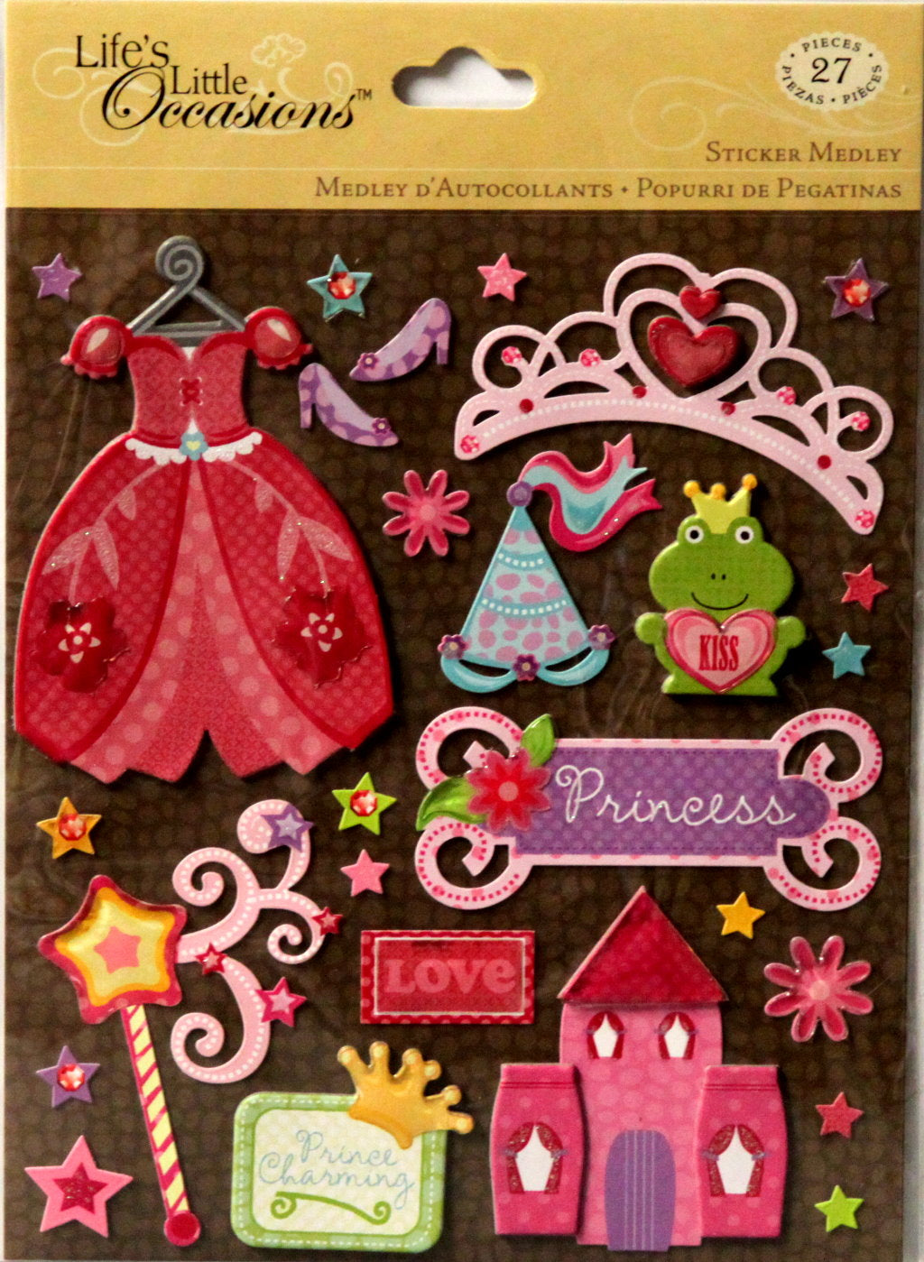 K & Company Life's Little Occasions Princess Dimensional Stickers Medley