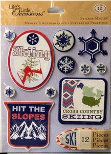 K & Company Life's Little Occasions Skiing Sticker Medley