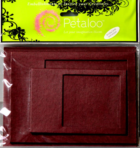 Petaloo's Burgundy Chipboard Window Box Card Set