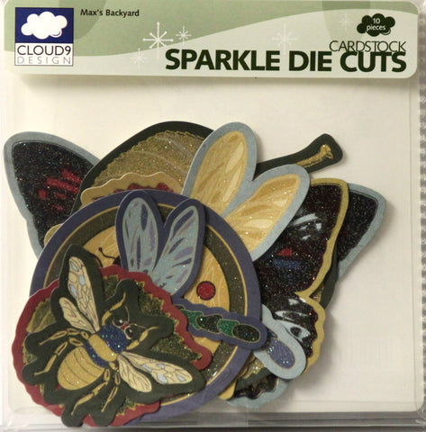 Cloud 9 Design Max's Backyard Sparkle Cardstock Die-Cuts Embellishments