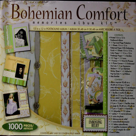Westrim Crafts Bohemian Comfort 12 X 12 Memories Scrapbook Album Kit
