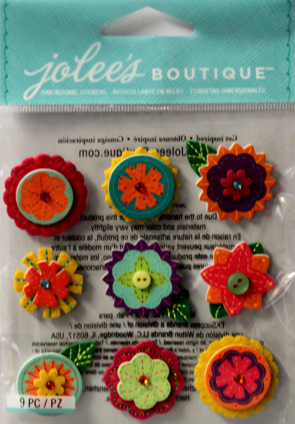 Jolee's Boutique Layered Mini Flowers Dimensional Stickers