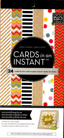 Me & My Big Ideas Cards In An Instant Cardstock Cards - SCRAPBOOKFARE