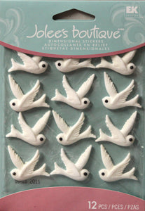 Jolee's Boutique Doves Cabochons Dimensional Stickers