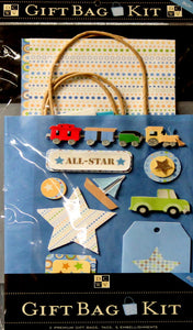 DCWV Build-a-Bag Boy Gift Bag Kit - SCRAPBOOKFARE