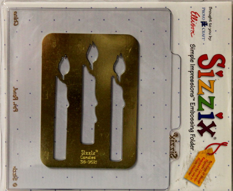 Sizzix Candles Simple Impressions Brass Stencil & Embossing Folder