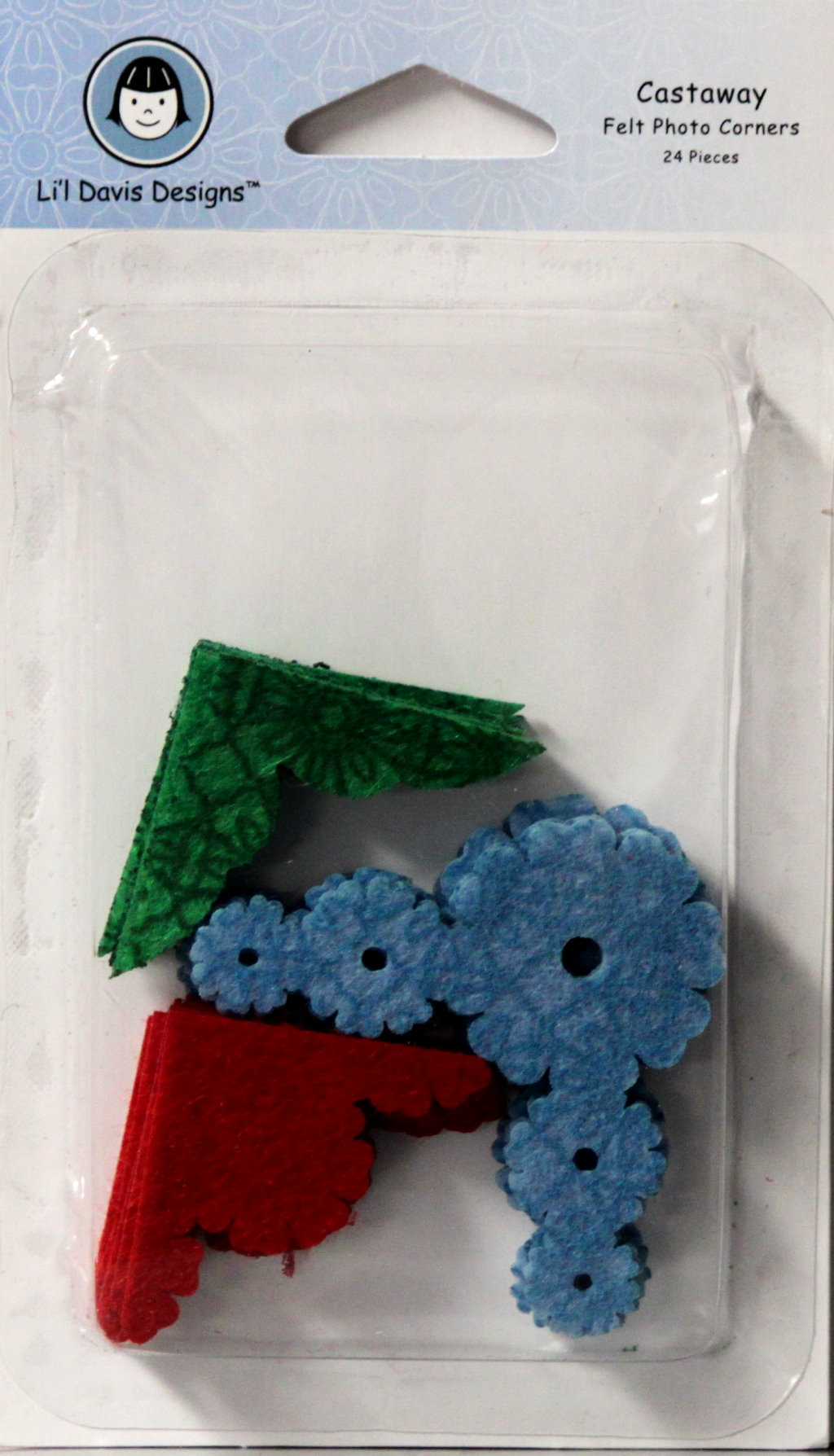 Li'l Davis Designs Castaway Felt Photo Corners Embellishments